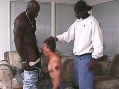 Muscular black gay men