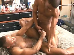 Muscle black men sucking
