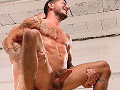 Gay sex featuring muscle tattooed guys