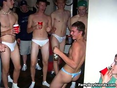 Party boys are drunk and gets out of control by getting naked