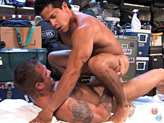 Two muscular hunks hot dude hard fucking after massage