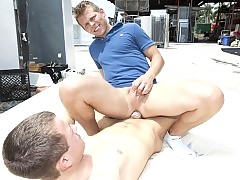 Hot gay sex in public two young studs