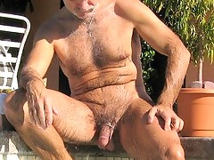 Naughty mature gay shows amazing deepthroating talent