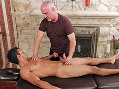 Gay fucking after massage