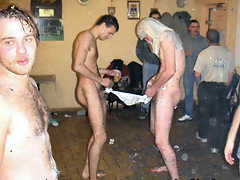 Hunk boys were partying hard topless and getting naked