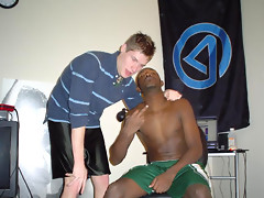 Black BFs stroking cock at the same time before fucking