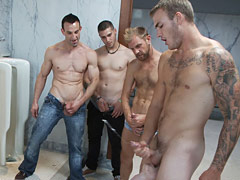 Two boys get used and abused in a public restroom