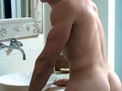 A very hot and sexy Matt Balin posing in different underwear