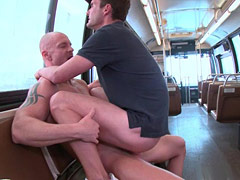 Bald dude and beautiful fucking guy after cruising
