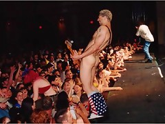 Bass player Evil Jared gets totally nude at the concert