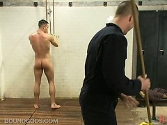 A well hung college jock forced into sex acts