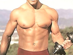 Hot sexy buffed up body of baseball star outfielder Gabe Kapler
