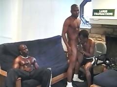 Muscle black men sucking