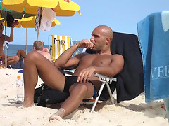 Hot looking guys in beach boyfriends photo session