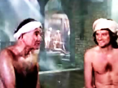 Classic movie clips of Colin Firth all naked inside a men's bath