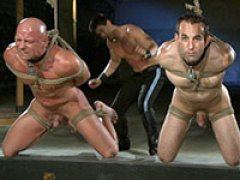 Van and Reed tie up and fuck two naked slave boys